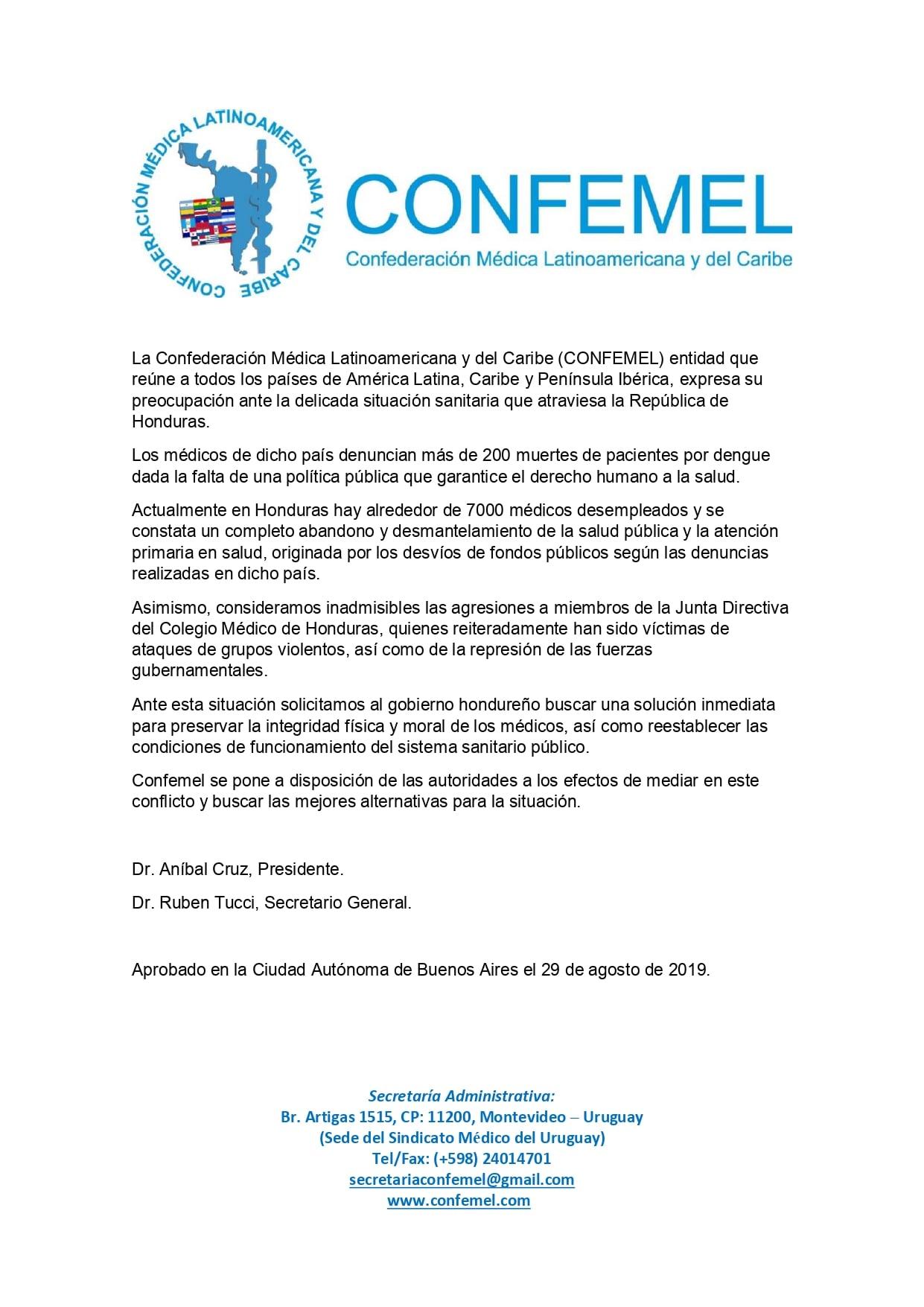 Calendario Fiscal 2019 Honduras.Colegio Medico De Honduras
